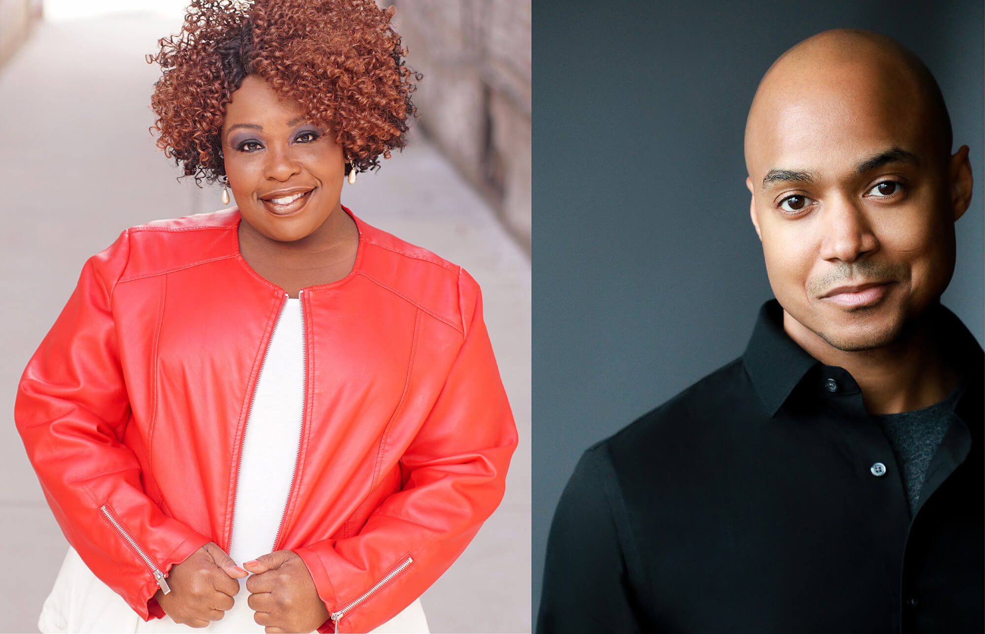 (L-R) Yvette Monique Clark and Curtis Wiley, Jr. take the stage for the Depot Theatre's production of THE MOUNTAINTOP beginning July 1.