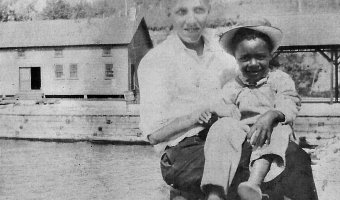Child at Baldwin Dock