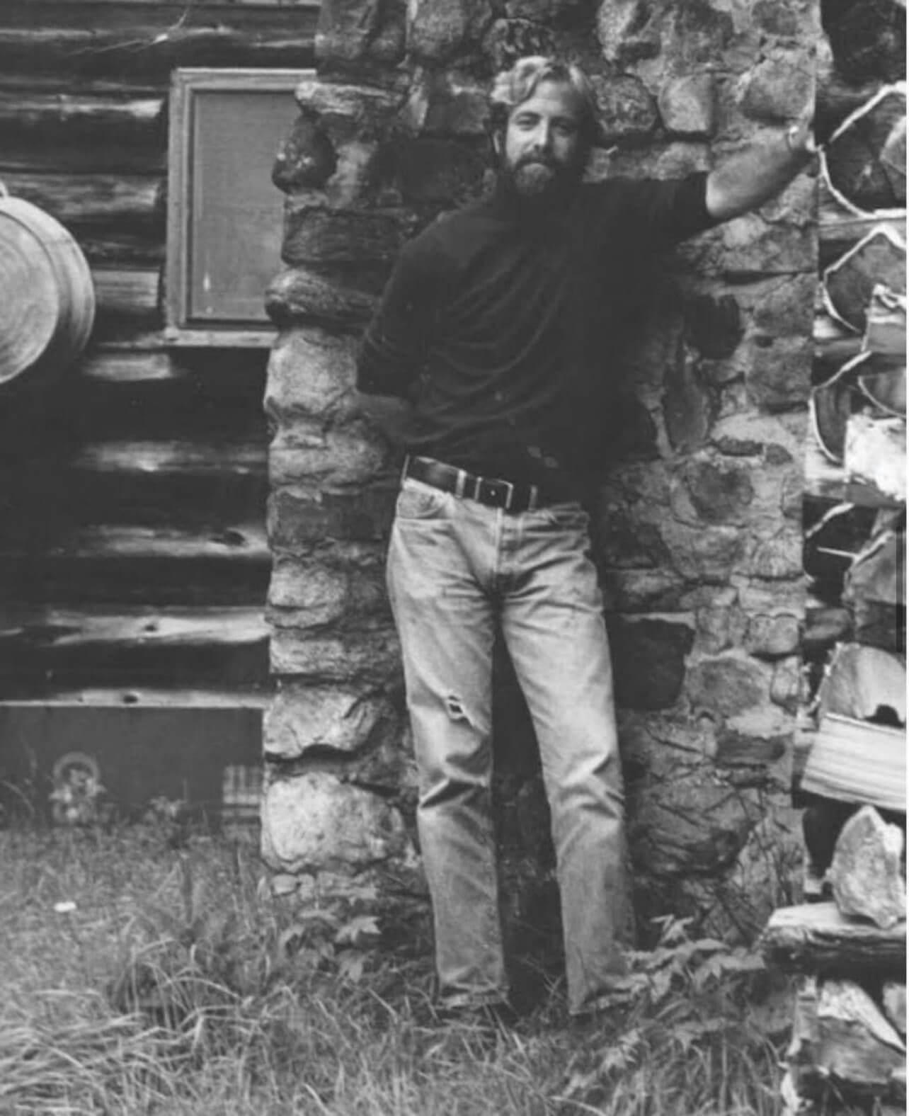 Christopher Shaw, circa early 70s at Jon Cody's cabin in Stony Creek