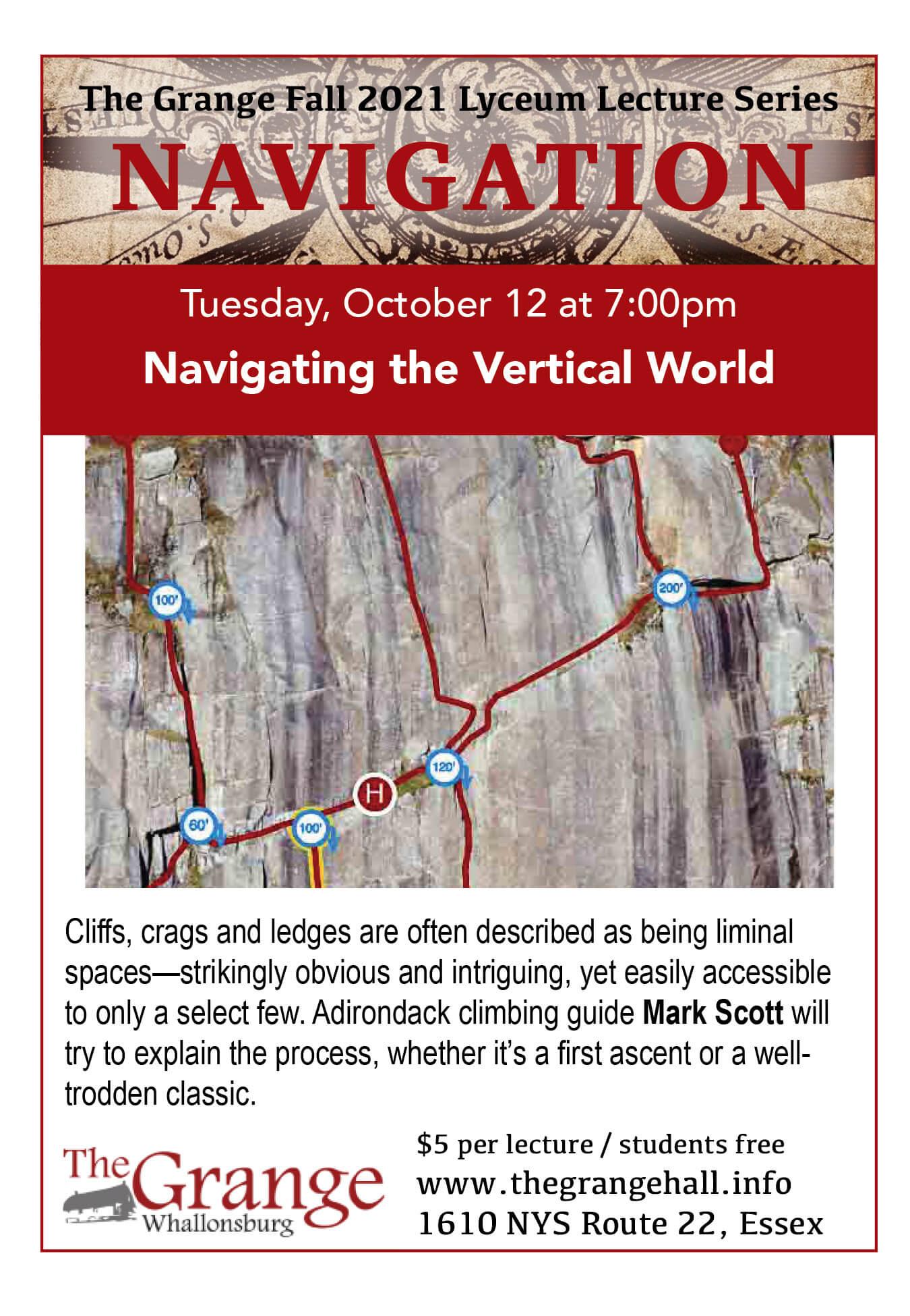 Oct 12 Climbing Lyceum Flyer
