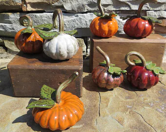 Clay pumpkin examples